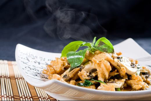 Mushroom Stir Fried - Thai Restaurant Delivery in Cottenham Park SW20