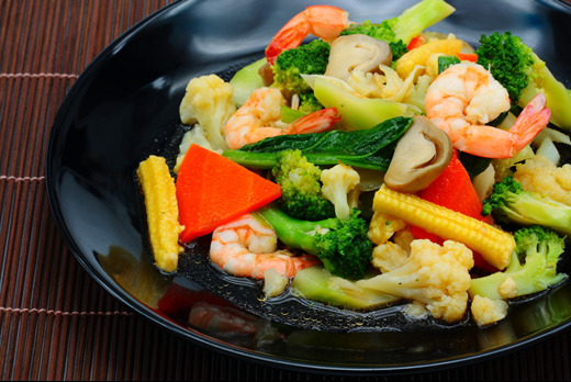 Stir Fried Mixed Vegetables - Thai Restaurant Takeaway in Colliers Wood SW19