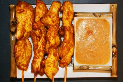 Chicken Satay on Skewers - Chinese Restaurant Takeaway in Crooked Billet SW19