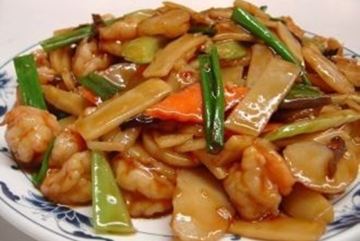 Bamboo Shoots & Water Chestnuts Stir Fried - Xin's House Takeaway in Merton Park SW19