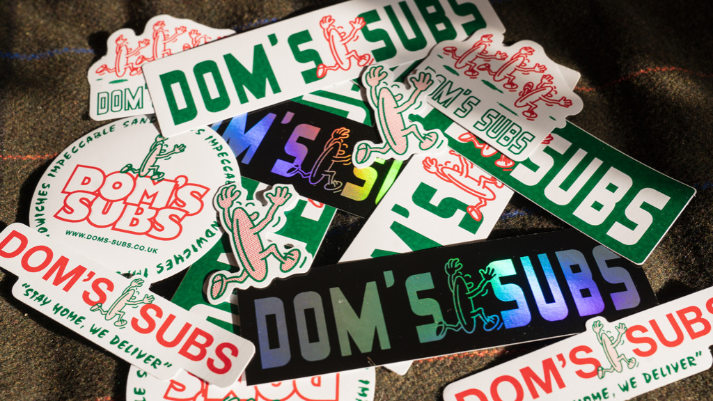 Sticker Pack large - Doms Subs Takeaway in Poplar E14