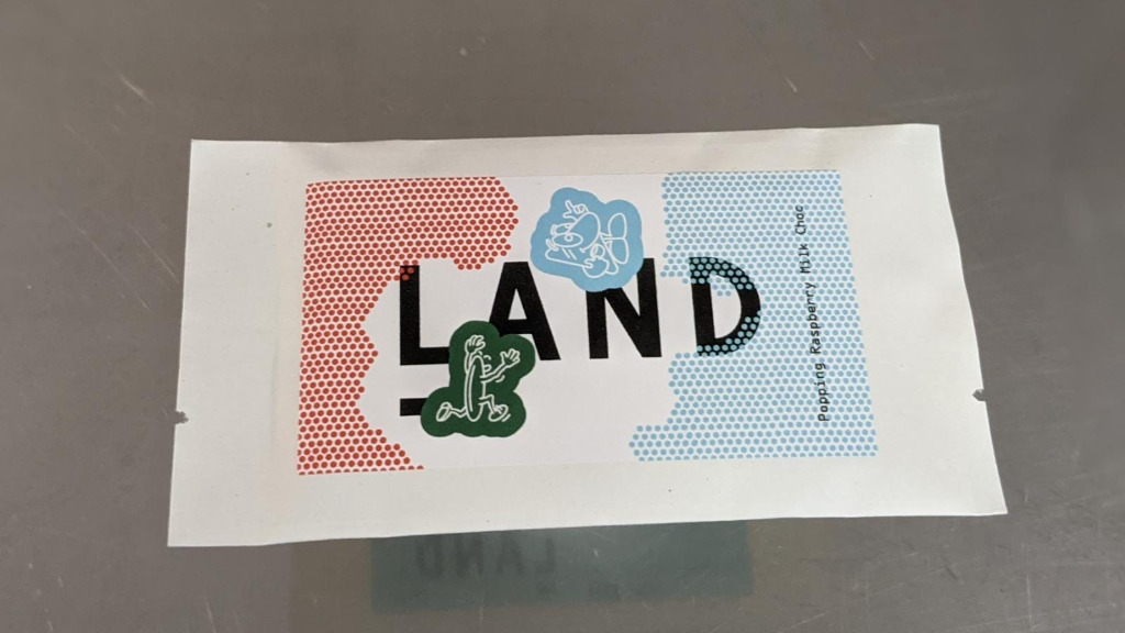 The Land Popping Raspberry Milk Chocolate Bar - Sub Delivery in Wapping E1W