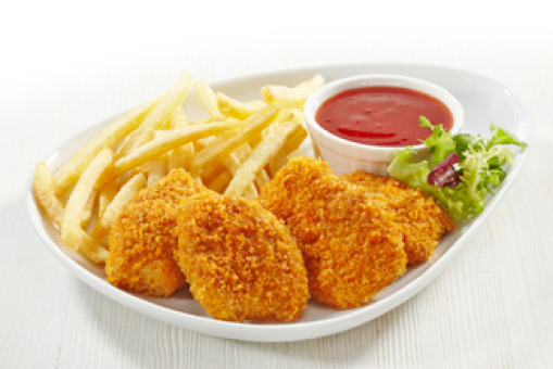Chicken Nuggets with Chips (8pcs) - Chicken Burger Delivery in Brondesbury NW2