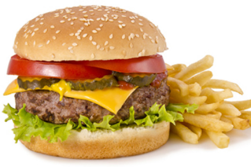 Half Pounder Burger with Cheese & Chips - Salads Collection in Regents Park NW1