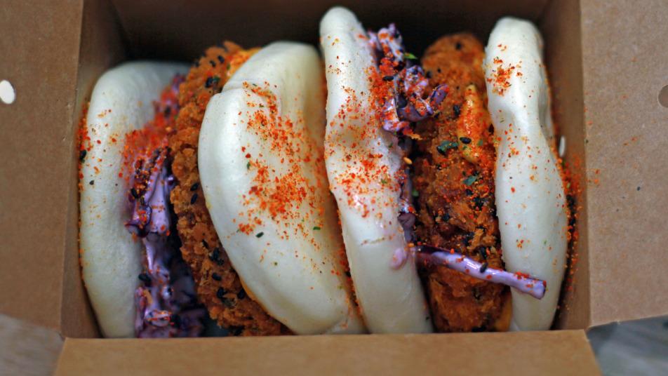 Sweet Potato Katsu Gua Bao - Curries Delivery in Hamhaugh Island TW17