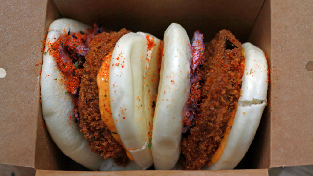 Aubergine Bao Bun - Stir Fry Delivery in Towpath TW17