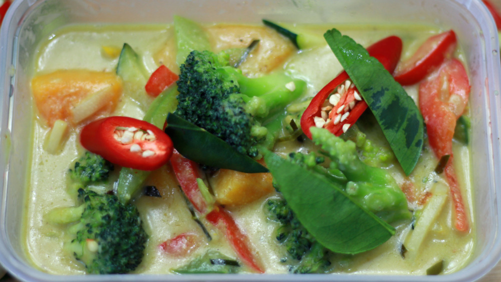 Thai Green Curry - Mixed Vegetable - Pan Asian Delivery in Laleham TW18