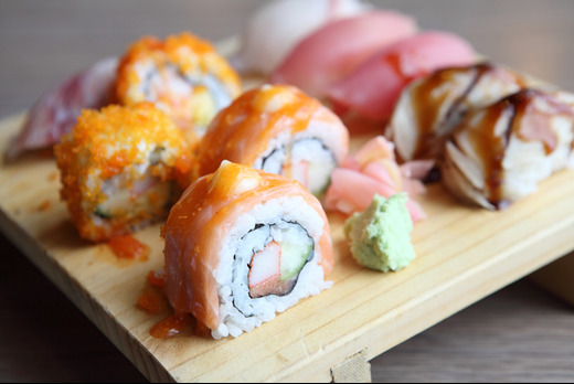 Salmon with Cream Cheese Futomaki - Shinobi Sushi Delivery in South Hampstead NW6