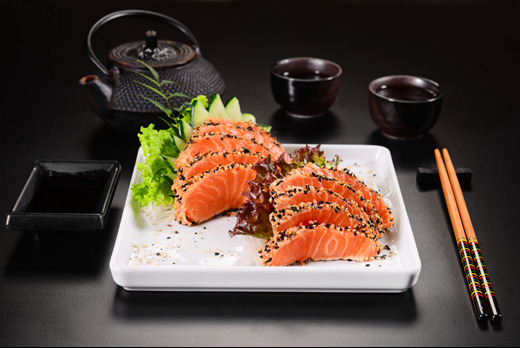 Seared Salmon Sashimi - Futomaki Delivery in Hornsey Vale N8