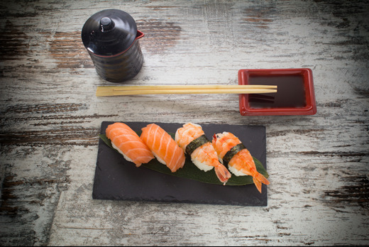 Smoked & Cream Salmon Nigiri - Sushi Collection in Cranley Gardens N10